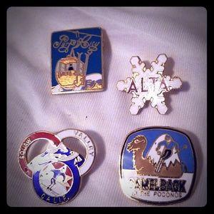 Ski resort lapel pins